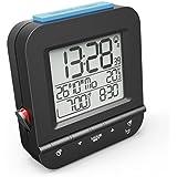 Hama Funkwecker  Dual Alarm  (digital, 2 Weckzeiten, laut, ansteigender Weckton, sensorgesteuerte Nachtlicht Funktion, Snooze, Temperatur, Datum) Wecker schwarz