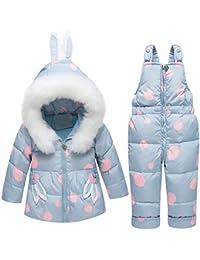 Functionaryb Conjunto De Ropa De Invierno para Niños con Traje De Nieve 90%  Duck Down Pantalones-Chaqueta para… e7fcde2d30b6