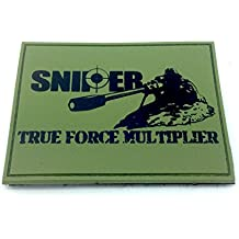 SNIPER True Force Multiplier Verde Oliva Airsoft Patch PVC Toppa