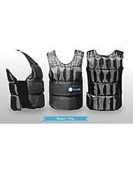 BodyRip–Chaleco de peso comodidad acolchada Deluxe 2.05kg 10kg 15kg 25kg 30kg, One Adjustable Size