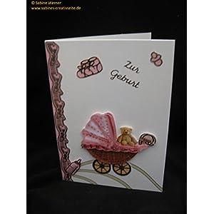 3D Grußkarte zur Geburt Mädchen, Art. 2771