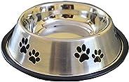 Foodie Puppies Stainless Steel Dog Food Bowl - Medium (Paw Print May Vary)
