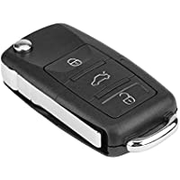 KIMISS 3 botones Llave teledirigida del coche Transmisor de chip ID48 434MHz para 1J0959753AH