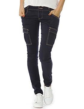 Bestyledberlin jeans da donna, pantaloni cargo j254p