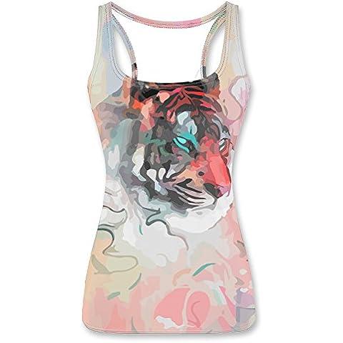 Bunny Rabbit Cute Head Printed Women Tank Vest
