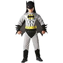 Rubies 3881823–Disfraz infantil de Batman Metallic Deluxe