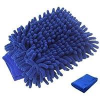 Stormiay Car Wash Mitt Large Size Premium Chenille Microfiber Wash Mitt Wash Free Scratch (Blu scuro)