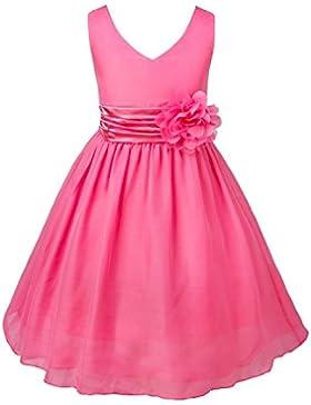 Freebily Vestido Infantil de Fiesta Bautizo sin Mangas para Niña (2-14 años) Vestido Elegante de Princesa Chica