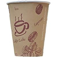 """'200Unidades. Coffee To Go–Vasos de café, cartón revestido, 200ml/alta calidad hitzebeständiger """"Coffee to go"""" Taza, diseño con estampado de granos """""""