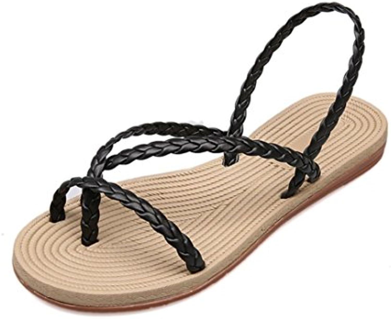 halijack  's summer sandales round bout ouvert faible faible faible croûton sandales mode élastique des sandales cross at tac hé sandales... 998784
