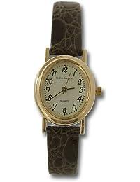 Philip Mercier SML16/C - Reloj de mujer de cuarzo color marrón