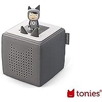 tonies Toniebox Starterset Anthrazit für Kinder inkl. Kreativtonie, Ladestation und Bedienungsanleitung