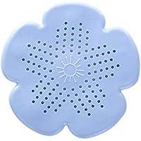 El diseño único de Sakura de la flor de silicona Forma de baño Cocina dren de la ducha Tamiz Tamiz del fregadero Filtro Filtro de pelo