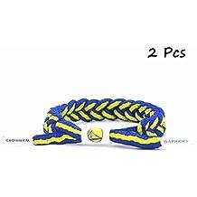 Equipo de Baloncesto de la NBA fanáticos Pulsera Tejido a Mano cordón Ajustable Pulsera 2 Piezas