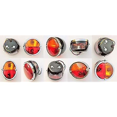 10x Tail/Stop Flasher Lamp Classic/Vintage with Licence Plate window for tractor Bulk 12V -11000801B