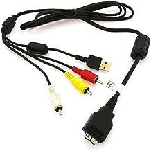 subtel® Cavo USB dati (1.5m) per Sony DSC-H55, H20, DSC-HX1, HX5V, DSC-W210, DSC-W220, W290, DSC-T500, T900, DSC-TX7, TX9 (Sony Camera Connector a USB A (Standard USB)) cavo ricarica nero