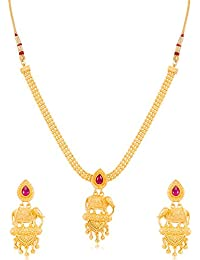[Sponsored]Sukkhi Modern Bahubali Inspired Gold Plated Collar Necklace Set For Women