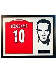 Denis Bergkamp - Framed Signed Arsenal F.C Shirt - Silhouette