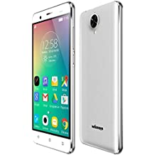Winnovo K54 4G Smartphone Libre Android 5.1 de 5.0 pulgadas Teléfono Móvil (Dual SIM, Quad Core 8GB ROM, IPS 1280*720 HD, 8.0MP/2.0MP Dual Cámaras, GPS, WIFI, Gesto Inteligente, Marco de metal) Celular, Blanco