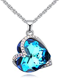Young & Forever Mothers Day Gifts Timeless Treasure Austrian Crystal Edition Silver Plated Alloy Blue Guardian...