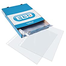 Elba A4 70 Microns Standard Punched Pockets - Clear (Box of 100)