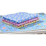 Fareto Nappy Changing Mat/Sleeping mats/Water Proof Bed Protector with Foam Cushioned for New Born Baby 4 Sheets (0-4 Months)(Size: L-22Inchs, B-17Inchs)