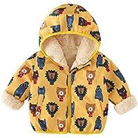 TAAMBAB Al Aire Libre Ropa para Niños Cazadora con Capucha Chaqueta Cortavientos Engrosamiento y Abrigos