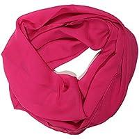 ManuMar Loop-Schal für Damen   feines Hals-Tuch mit Unifarben   Schlauch-Schal - Das ideale Geschenk für Frauen