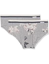 Skiny Women's Sporty Cotton Mix Panty Dp Boy Short pack of 2
