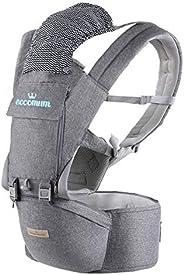 Eccomum Mochila Portabebé Ergonómico Multifuncional 6 en 1, Cinturón Ajustable, Multiposición Dorsal y Ventral
