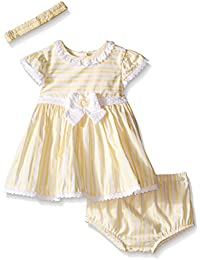 Little Me Baby Girls' Dress and Panty with Headband