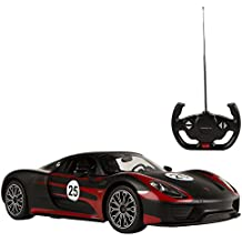 RASTAR - Coche teledirigido 1:14, Porsche 918 Spyder Performance, Color Negro (