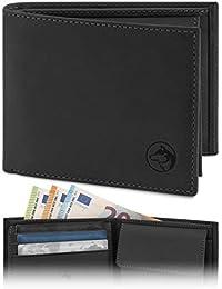 Geldbörse Herren Leder 'Norge' – Tri-Fold Herren-Portemonnaie RFID-Blocker – 6 Karten-Fach, Ausweis-Fach, Großes Zusatzfach, Scheinfach, Kleingeldfach