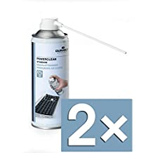 Durable 579619 Druckluftreiniger Powerclean Standard, Druckluftspray 400 ml (2x 400ml)