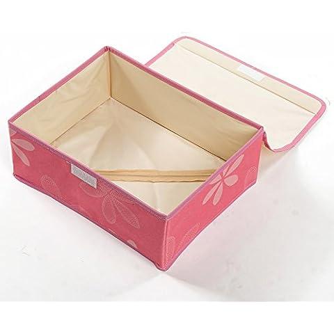 Caja de almacenamiento de ropa interior de tela Oxford combo Gavin calcetines ropa interior caja de almacenamiento pecho caja de almacenamiento 32x24x12cm,girasol