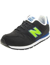 New Balance KJ 373 - Zapatillas de Piel para mujer Negro Nero/Verde/Blu