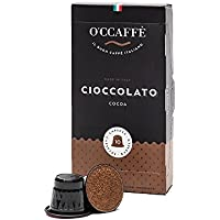 O'ccaffe Cioccolato | Nespresso Compatible Hot Chocolate Capsules | 100% caffeine-free Italian roasted cocoa | suitable for kids - 10 pods