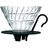Hario VDGN02B - Cafetera Dripper V60, de cristal, 4 tazas, color negro