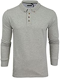 8194a5417 Brave Soul Mens Lincoln Cotton Polo T Shirt Long Sleeve Pique Casual Golf  Top