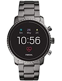 Fossil Explorist Hr Black Dial Men's Smart Watch-FTW4012