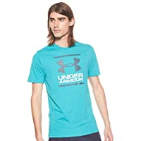 Under Armour Men's UA Gl Foundation Ss T T-Shirt, Green (Teal Rush), Medium