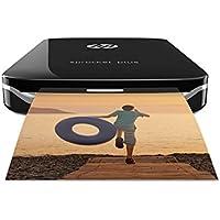 HP Sprocket Plus - Impresora fotográfica portátil (tecnología de impresión Zink, Bluetooth, fotos  5.8 x 8.6 cm), negro