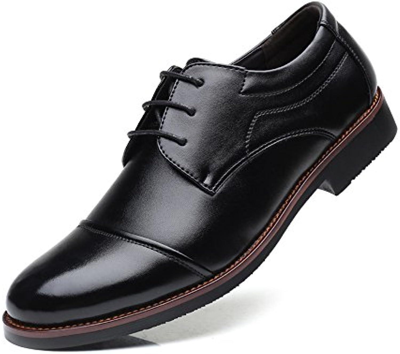 Yaojiaju Formale Geschäfts Schuhe der Männer mattieren PU Leder Spleiß Spitze Oben Breathable gefütterte Oxford Schuhe