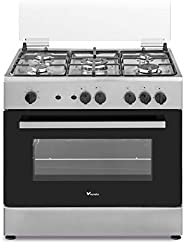 Veneto 80 X 55 cm 5 Gas Burners, Free standing Gas cooker, Stainless Steel - C3X85G5VC.VN, 1 Year Warranty