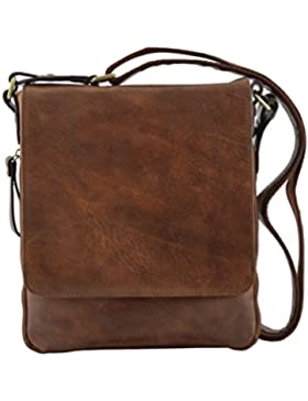 Echtes Leder Herrentasche Farbe Braun - Italienische Lederwaren - Herrentasche