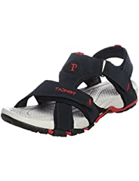 Tomcat Men Black & Red Sandals and Floaters