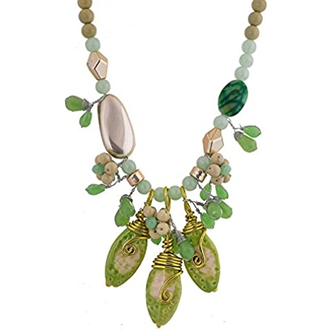 Moda Boemia Lega Ciondoli A Forma Di Acqua-Goccia Perline Collana