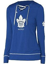 "Toronto Maple Leafs Women's Adidas NHL ""Wordmark"" Long Sleeve Skate Lace Top"