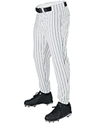 Wilson Sporting Goods Youth Deluxe Poly Warp Knit Pinstripe Baseball Pant, Large, White with Navy by Wilson