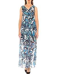 7802ee626554 Vestito a Impero Lungo Donna in Georgette Fantasia Floreale